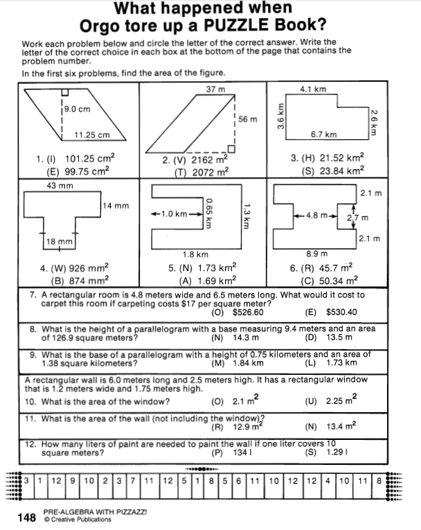 Area SA Volume Algebra – Area of Irregular Figures Worksheet