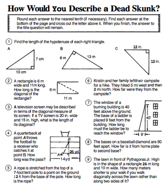 Pythagorean Theorem Word Problems Worksheet Free Worksheets ...